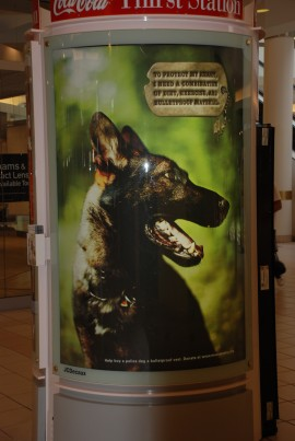 K-9 Ringo (Essex County Sheriff's Department) mall banner